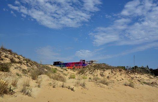 Bauruine, Ruin, Lost Places, Beach, Sky, Sea, Tourism