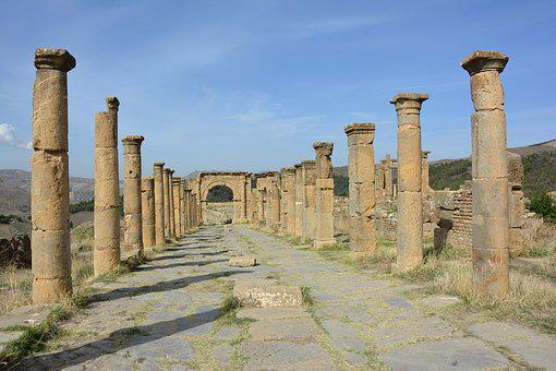 Site, Archaeological, Represented At Setif, Djemila
