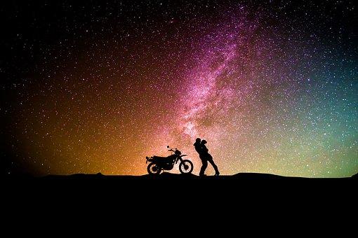 Astronomy, Exploration, Moon, Sky, Galaxy, Stage, Light