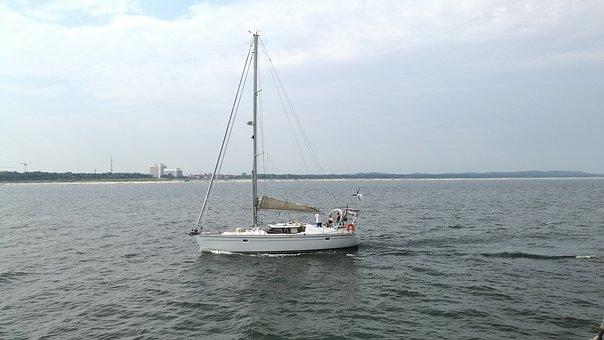 Sea, Ship, Boat, Sailboat, Cruise, Boats, Sky, Summer