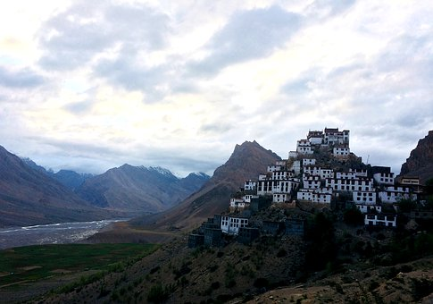 Key Monastery, Spiti, Himalayas, Buddhism, Religion