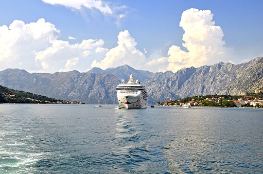 The Bay Of Kotor, To, Big Ship, Passenger Ship