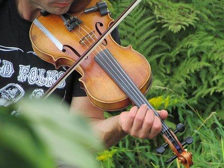 Violin, Nature, Musician, Music, Garden, Violinist
