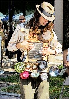 Madison Washboard Busker, Washboard, Busker, Musician