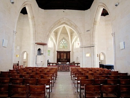 Church, Jew, Jerusalem, Arches, White, Aisle, Jews