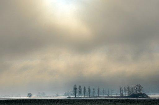 Gel, Flood, Fields, Winter, Flooded, Field, Landscape