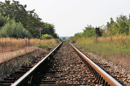 Abandoned Rail Station, Rail Tracks, Railway, Platform