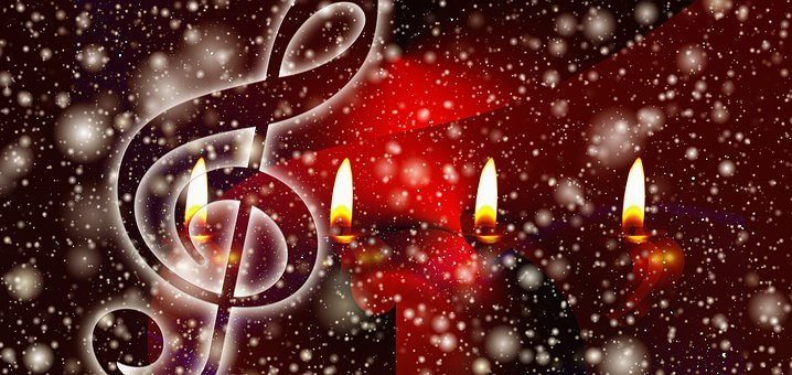 Advent, Sing, Snow, Songs, Christmas, Candles, Light