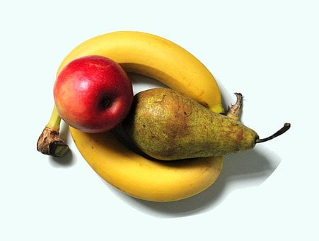 Fruit, Pear, Banana, Apple, Selection, Food, Healthy