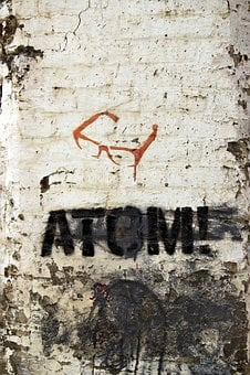 Graffiti, Stencil, Atom, Pochoir, Lettering, Font, Text