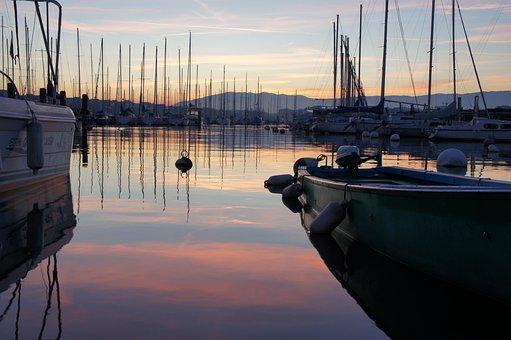 Port, Lake, Boat, Water, Shore, Sailboat