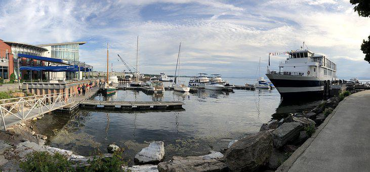 Burlington, Vermont, Marina, Boat, Lake