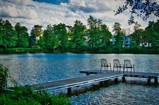Lake, Relaxation, Chairs, Jetty, Investors, Scenic
