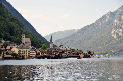 Lake, Hallstatt, Historical, City, Wooden, Houses