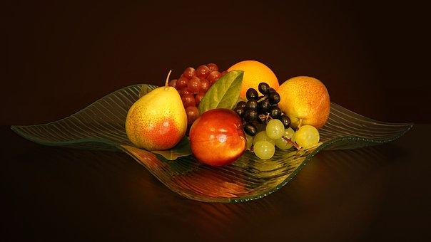 Fruit Bowl, Fruit, Dessert, Food, Vitamins, Healthy