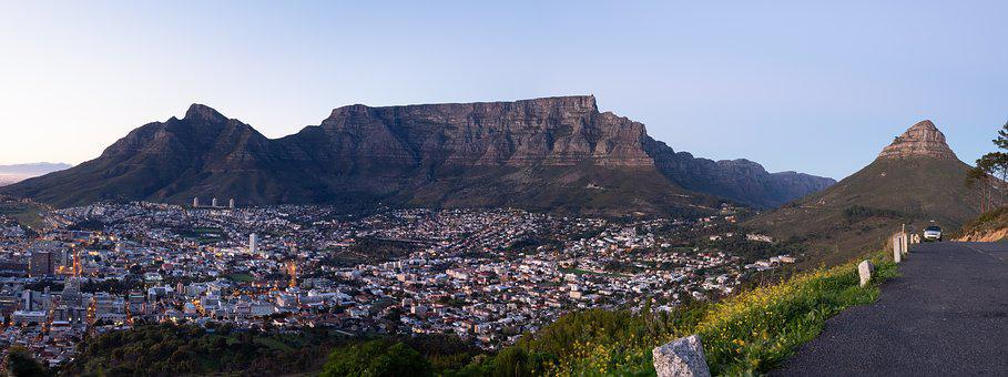 Table Mountain, Cape Town City Bowl, Devil's Peak