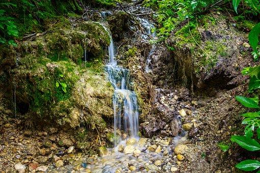 Small Waterfall, Eistobel, Isny, Nature, Reserve, Gem