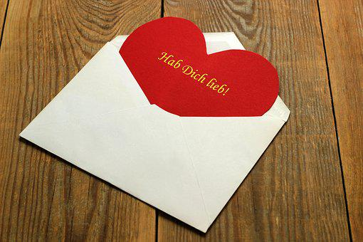 Letters, Envelope, White, Heart, Red, Text, Love You