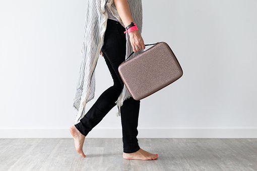 Woman, Work, Business, Female, Bag, Office, Person, Go