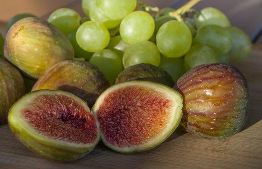 Figs, Grapes, Fruit, Fall, Vine