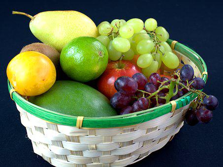 Fruits, Fruit, Fruit Basket, Vitamins, Grapes