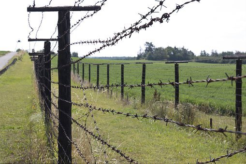 Iron, Curtain, Fence, Spiny, Wire, Border, History
