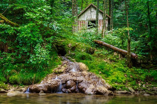 Eistobel, Isny, Waterfall, Country House, Forest, House
