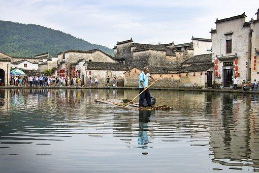 Huangshan, Huizhou, China, Martial Arts, Raft