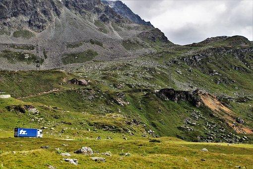 Hiking Trails, Julierpass, The Alps, Mountains