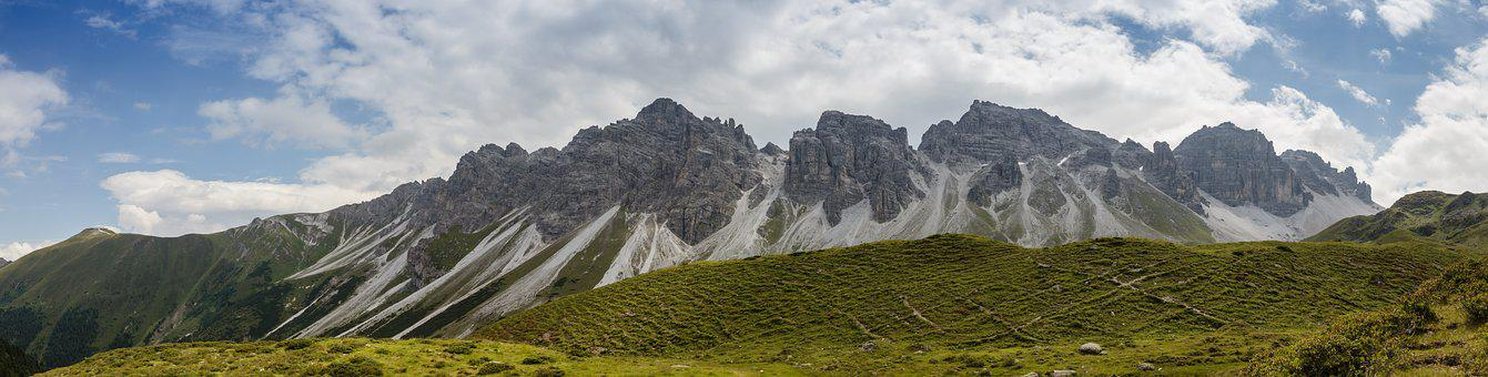 Panorama, Kalkkögel, Tyrol, Sediments, Stubai Alps