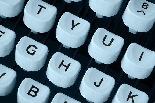Typewriter, Keyboard, Machine, Mechanics, Letters, Keys