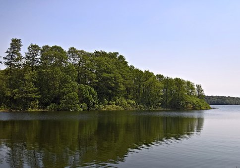Lake, Landscape, Nature, Northern Germany, Forest