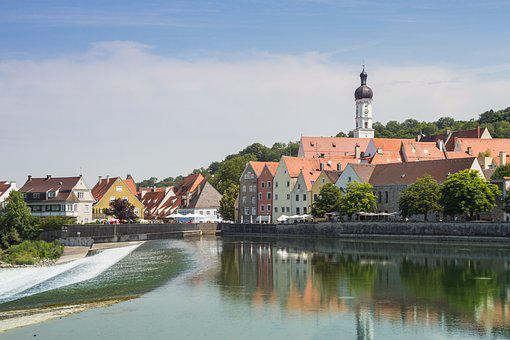 Landsberg, Lech, Bavaria, River, Landmark, Building