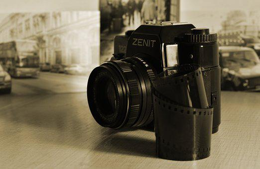 Camera, Lens, Isolated, Photo, Photography, Film, Old