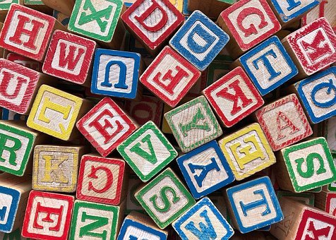 Blocks, Letters, Alphabet, Education, Preschool, Abc