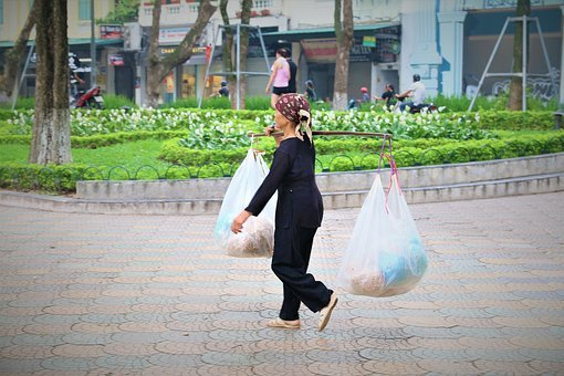 Life, Job, Photo, Vietnam, Line, Women, Woman, Old Age