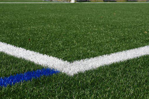 Football Field, Artificial Turf, Line, Rush, Green