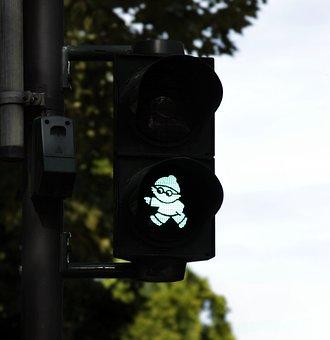 Traffic Lights, Mainzelmännchen, Green, Traffic Signal