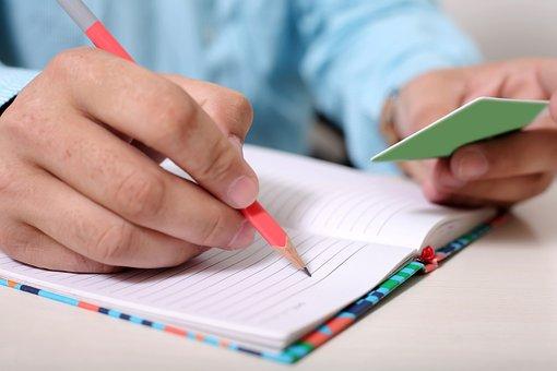 Man, Notebook, Write, Writing, Person, Men, Work, Table