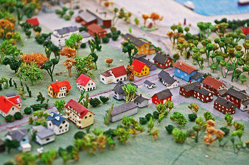 Miniature, Miniature City, Sketch, Mini, Mini Houses