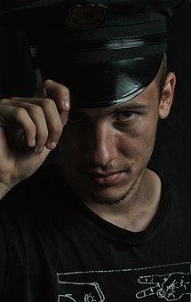 Men's, Portrait, Police Officer, Facial, Model