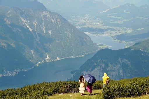 Hallstatt, Lake, Austria, Mountains, Alpine
