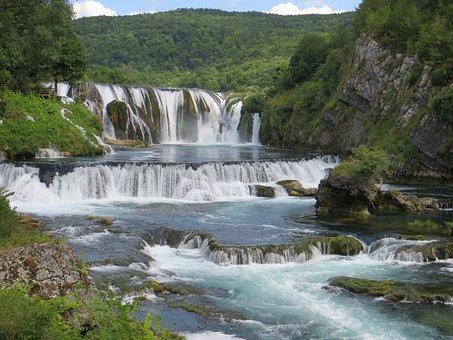 Srtbacki Abdomen, Waterfall, Wasserfall, Nature, Water