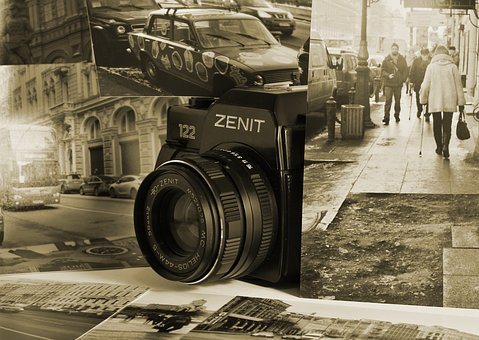 Camera, Lens, Photo, Old, Isolated, Film, Photography