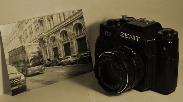 Camera, Lens, Old, Isolated, Photography, Photo, Film