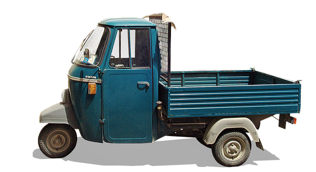 Italy, Classic, Tricycle, Platform Truck, Box Car