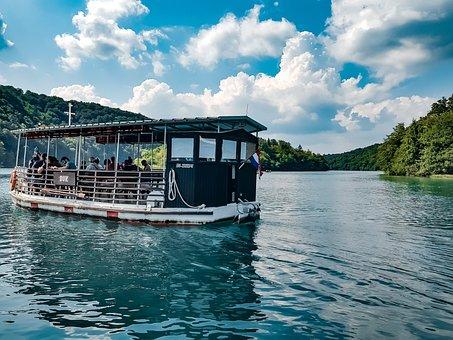 Boat, Plitvička, Plitviche, Waterpolo, Atmosphere, Sea