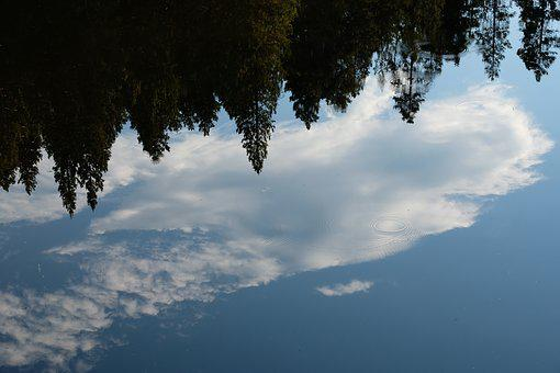 Reflection, Water, Lake, Nature, Landscape, Clouds