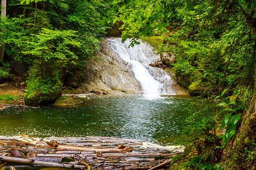 Waterfall, River, Eistobel, Isny, Nature, Reserve, Gem