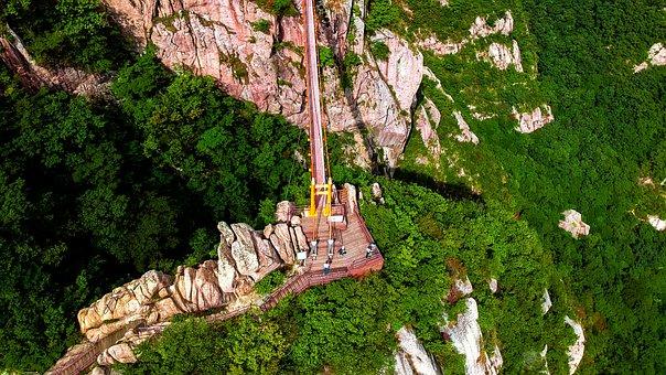 Drone, Aerial View, Rock, Mountain, Landscape, Autumn